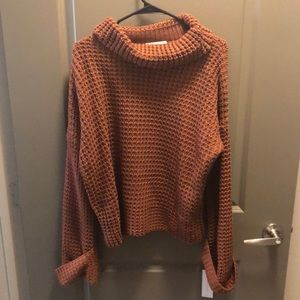 Cropped turtleneck sweater!